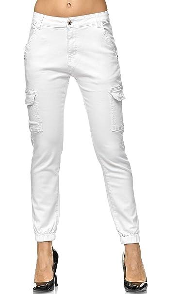 Elara Pantalones de Carga Slim Fit de para Mujer | Jeans ...