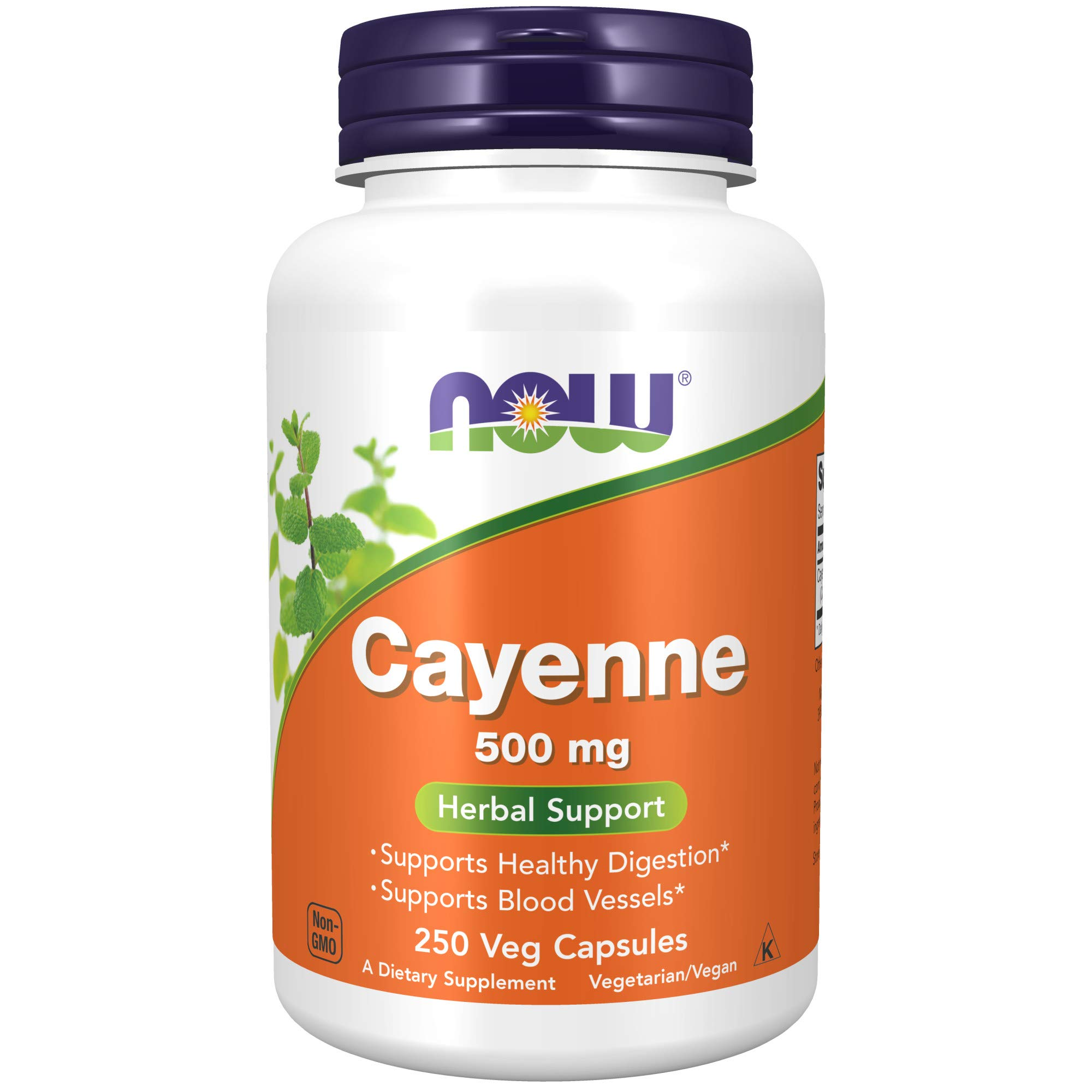 NOW Supplements Cayenne (Capsicum annuum)500 mg, 250 Capsules