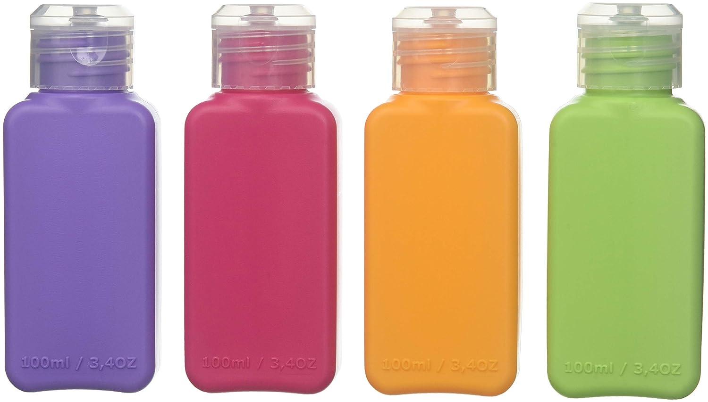 f8ee78b5a139 Amazon.com : Ikea 4 Color Bottles Travel Accessory 3.4oz TSA ...