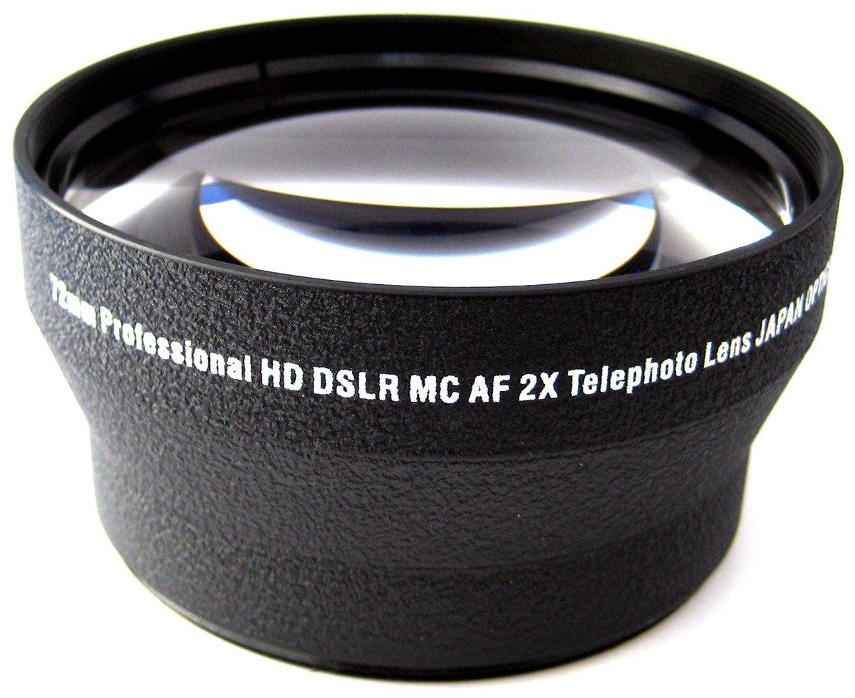 Zeikos ZE-2X72B 72mm 2X TelePhoto High Definition Lens For Canon EF 100-400mm IS II, EF 135mm f/2L USM, EF 200mm USM, EF-S 18-200mm, EF-S 15-85mm, EF 50mm f/1.2 L & EF 35mm f/1.4 & EF 85mm