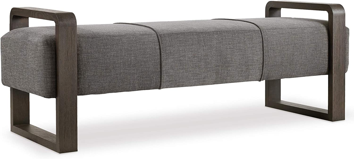 Hooker Furniture Curata Upholstered Bedroom Bench in Graphite
