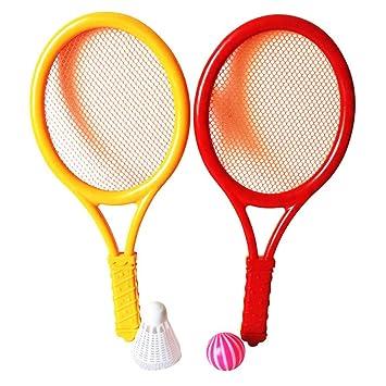VORCOOL Sistema de Raquetas de Tenis, Juego de bádminton de plástico para niños Deportes de