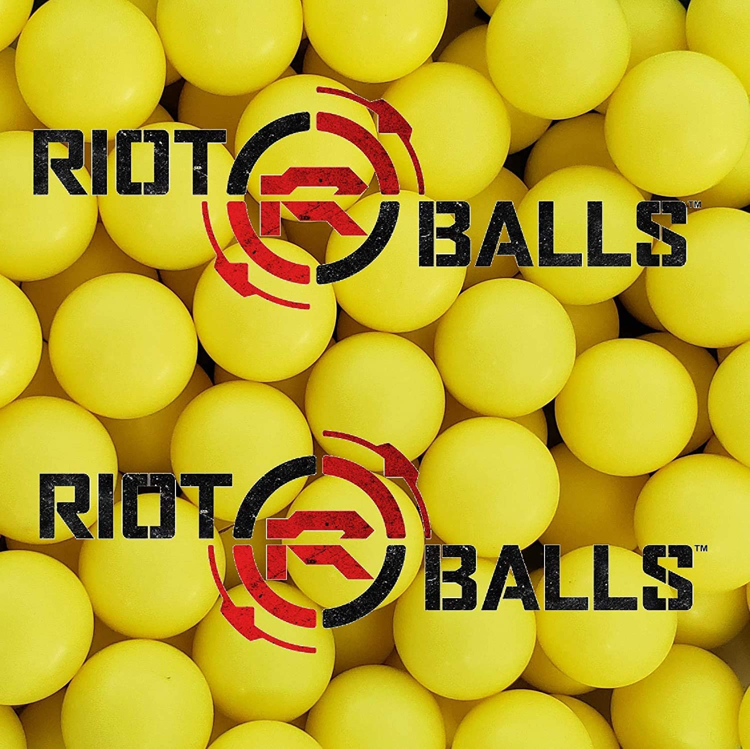 Riot Balls 100 X 0.68 Cal PVC/Nylon Self Defense Less Lethal Practice Paintball