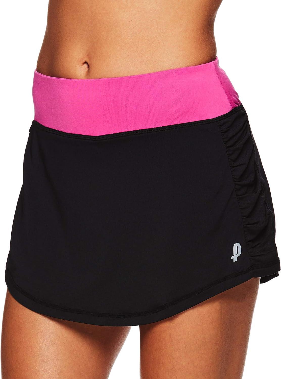 Penn Women's Solid Rocket Mesh Athletic Performance Tennis & Golf Skort - Rocket Black, X-Small: Clothing
