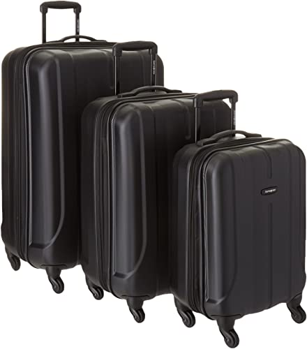 Samsonite Luggage Fiero HS 3 Piece Nested Set, Black, One Size