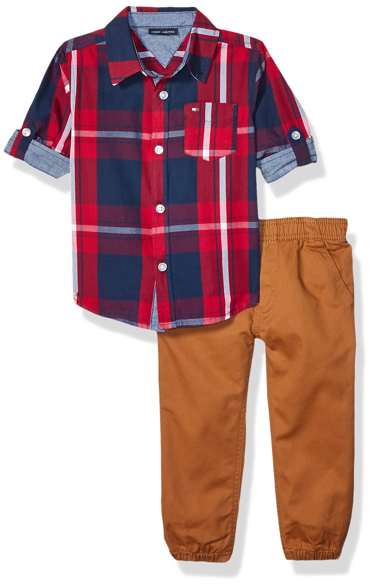 Tommy Hilfiger Boys' Toddler 2 Pieces Shirt Pants Set