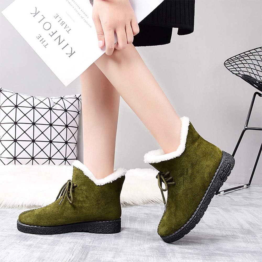 Winter Lightweight Plus Velvet Warm Booties BOZEVON Snow Boots for Women
