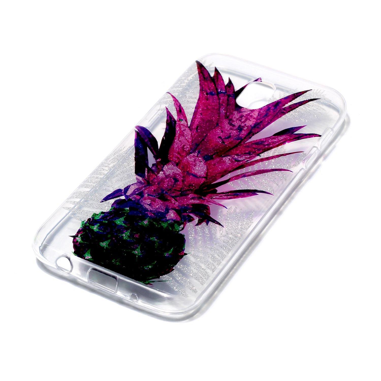 Coque Samsung Galaxy J3 2017 // J330 /Étui Transparente Cozy Hut Samsung Galaxy J3 2017 // J330 TPU Silicone Bumper Cover Absorption de Choc Tr/ès L/&eac Coque Samsung Galaxy J3 2017 // J330 coque housse etui avec Silicone Souple Transparente
