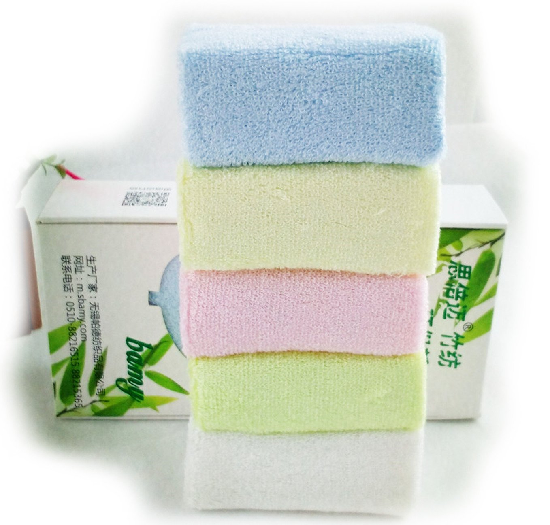 Pack de 5varios colores suaves toallas de mano de bambú/manoplas, manoplas, 25cm x 25cm Sbamy / Bamboo Zhu