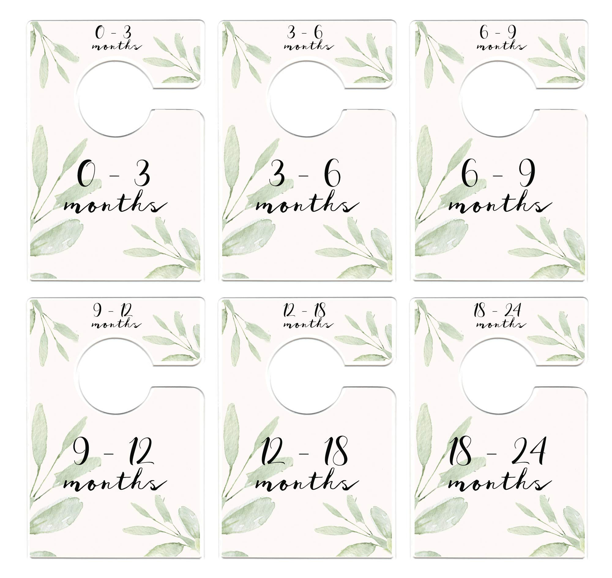 Mumsy Goose Nursery Closet Dividers Greenery Baby Clothes Dividers Botanical Closet Organizers by Mumsy Goose