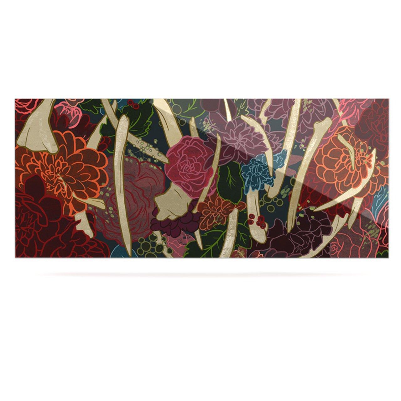 24 x 36 Kess InHouse Jaidyn Erickson New Life Red Flowers Luxe Rectangle Panel