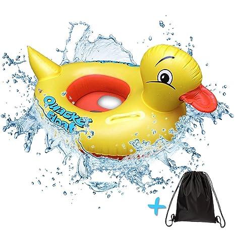 Bebé Flotador Anillo De Natación hinchable pato – diversión y seguro para niños de hasta 3