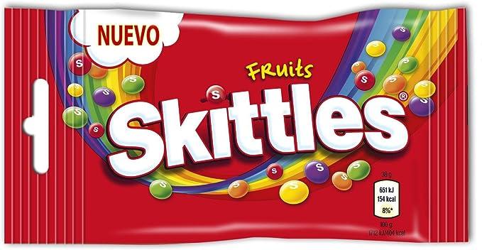 Skittles - Fruits - Caramelos masticables con una crujiente capa de azúcar - 38 g - [Pack de 7]: Amazon.es: Alimentación y bebidas