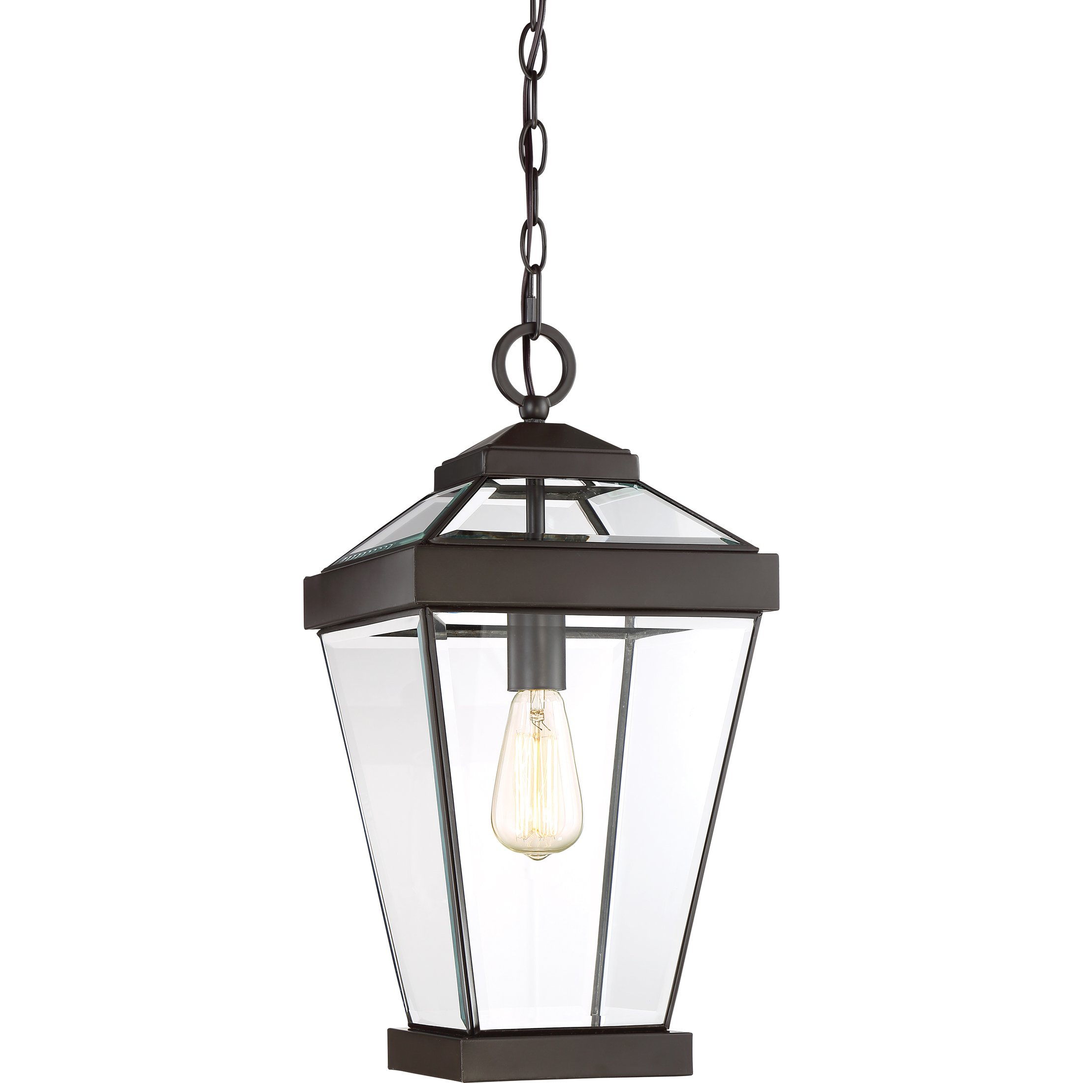 Quoizel One Light Outdoor Hanging Lantern RAV1910WT, Large, Western Bronze by Quoizel