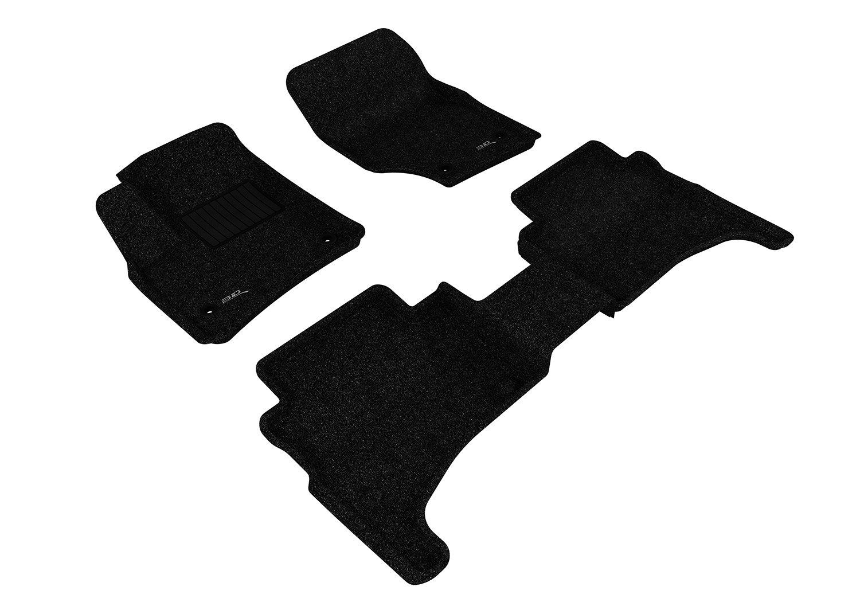 Tan Classic Carpet 3D MAXpider Complete Set Custom Fit Floor Mat for Select Volkswagen Touareg Models L1VW01202202