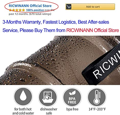 RICWINANN Water Jug 2.2L Large Sport Water Bottle Big Capacity Leakproof Contain