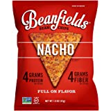 Beanfields Bean Chips, High Protein and Fiber, Gluten Free, Vegan Snack, Nacho, 1.5 oz, Sample Size