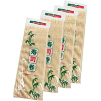 MOOZON Bamboo Sushi Rolling Mat, 9.5x9.5 Inch, 4 PCS SET