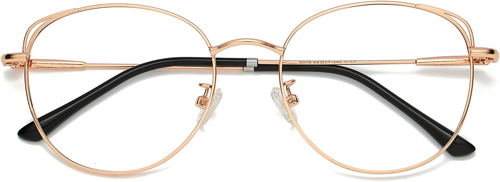 Amazon.com: SOJOS Cat Eye Blue Light Blocking Glasses Hipster Metal Frame Women Eyeglasses She Young SJ5027 with Rose Gold Frame/Anti-blue light Lens: Clothing