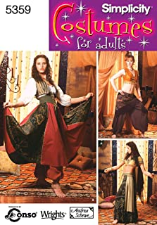 product image for Simplicity Women's Gypsy and Belly Dancer Costume Sewing Patterns, Sizes 6-12