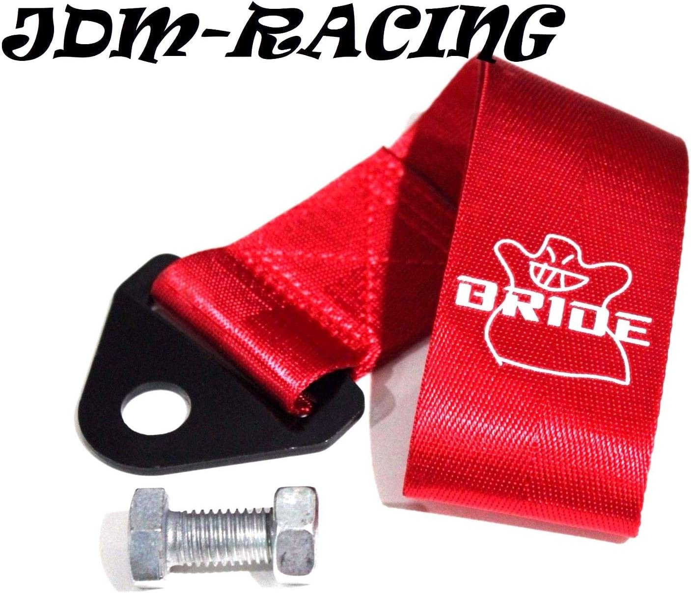 Red Tow Hook Ribbon BRIDE JDM Universal Tow Strap