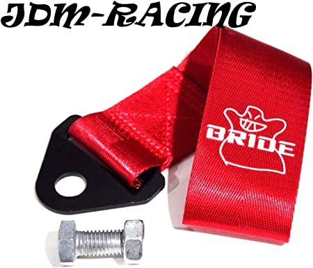 OMP Style Tow Straps JDM Japan Performance Track Racing Towing RED