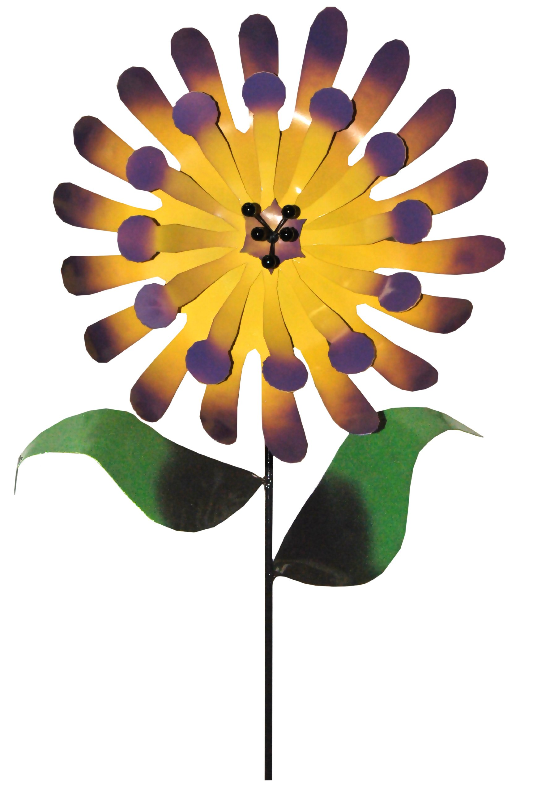 Steven Cooper Metalsmith AFLWR-36-XL Artificial Garden Flower on Footed Stake, 6-Feet, Yellow