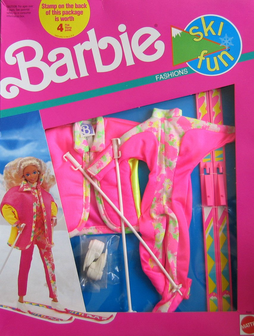 Barbie Ski Fun Fashions w Accessories 1991 7598 Mattel 7591 Asst