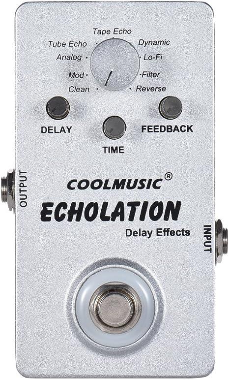 Muslady Pedal de Efectos de Delay Digital de Guitarra Eléctrica ...