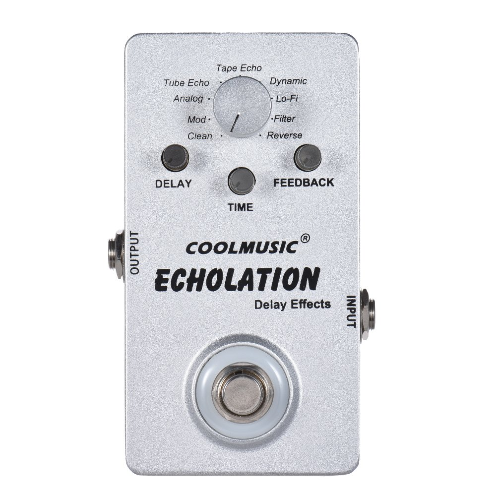 ammoon Electric Guitar Digital Delay Effect Pedal with 9 Delay Effects True Bypass Full Metal Shell 1