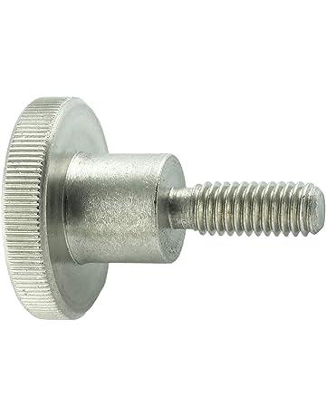 5 St/ück M2 x 5 mm BQLZR R/ändelschrauben//R/ändelschrauben silberfarben Edelstahl