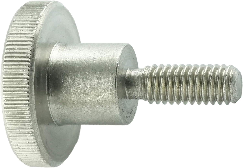 Eisenwaren2000 M6 x 25 mm DIN 653 R/ändelschrauben 5 St/ück rostfrei Edelstahl A1 1.4305 VA - neidrige Form