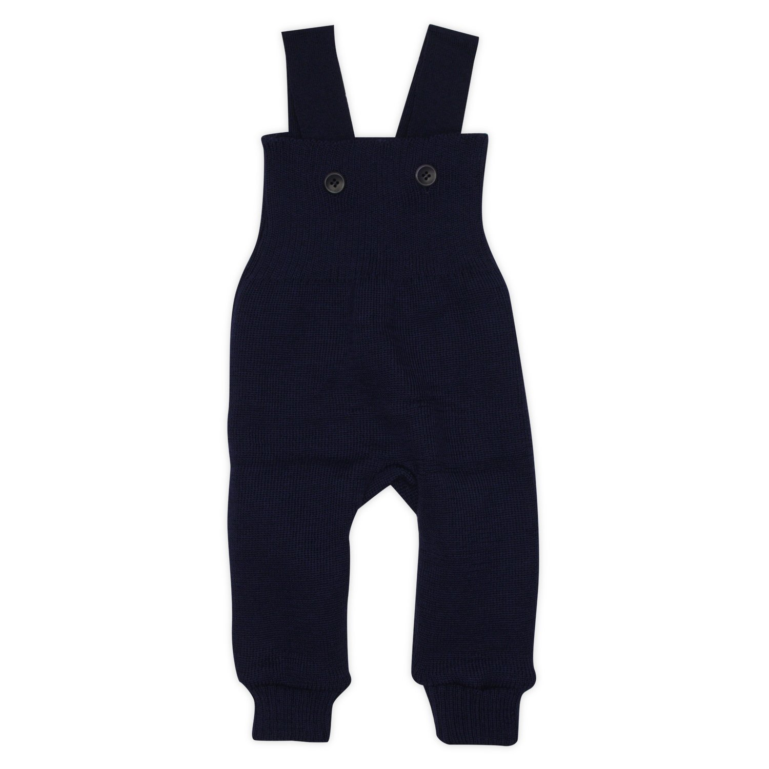 Disana Knitted Baby Dungarees in Organic Merino Wool Navy 74/80 6-12m 26542-082-00502-21