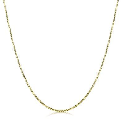 Amberta® Bijoux - Collier - Chaîne Argent 925 1000 - Plaqué Or 18K - Maille  Vénitienne - Largeur 1 mm - Longueur 40 45 50 55 60 cm (45m)  Amazon.fr   Bijoux 34ec7eb1dcc6