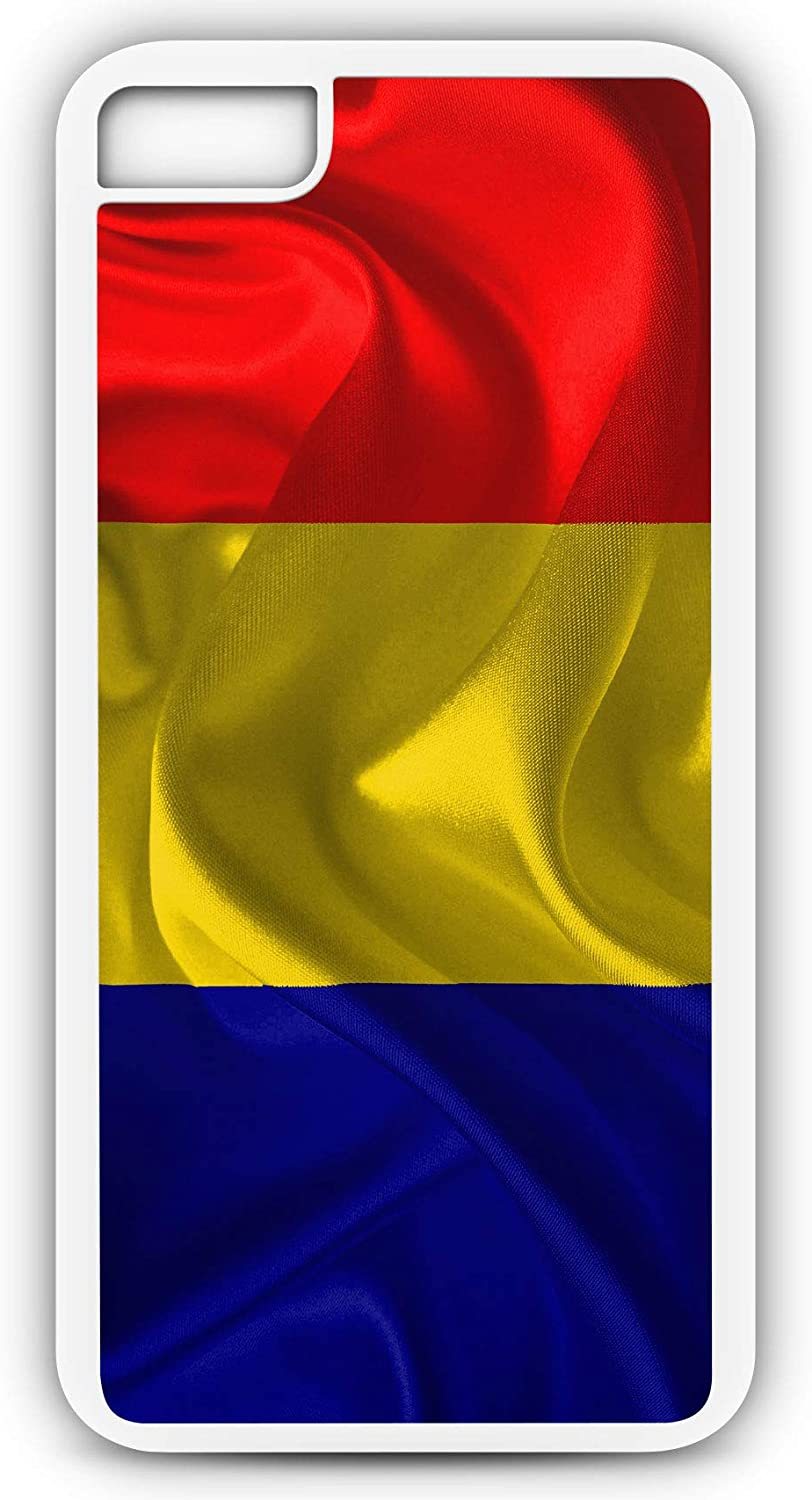 Amazon Com Iphone 6s Case Fits Iphone 6s Or Iphone 6 Romania Flag Europe Countries Red Blue Yellow 20491 White Rubber By Tyd Designs