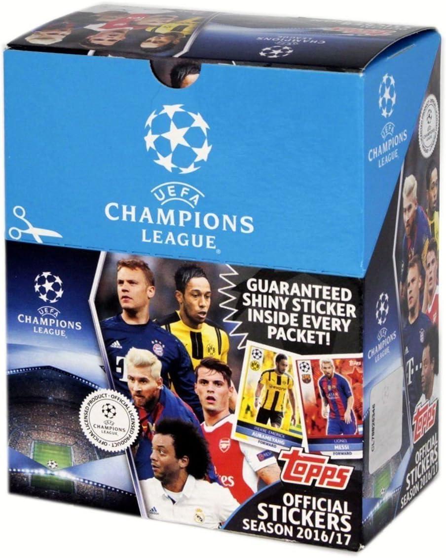 Topps Cromos de la Champions League Temporada 2016/17, con 50, 5 Insignias Booster de la Marca D105595-D (Idioma español no garantizado): Amazon.es: Juguetes y juegos