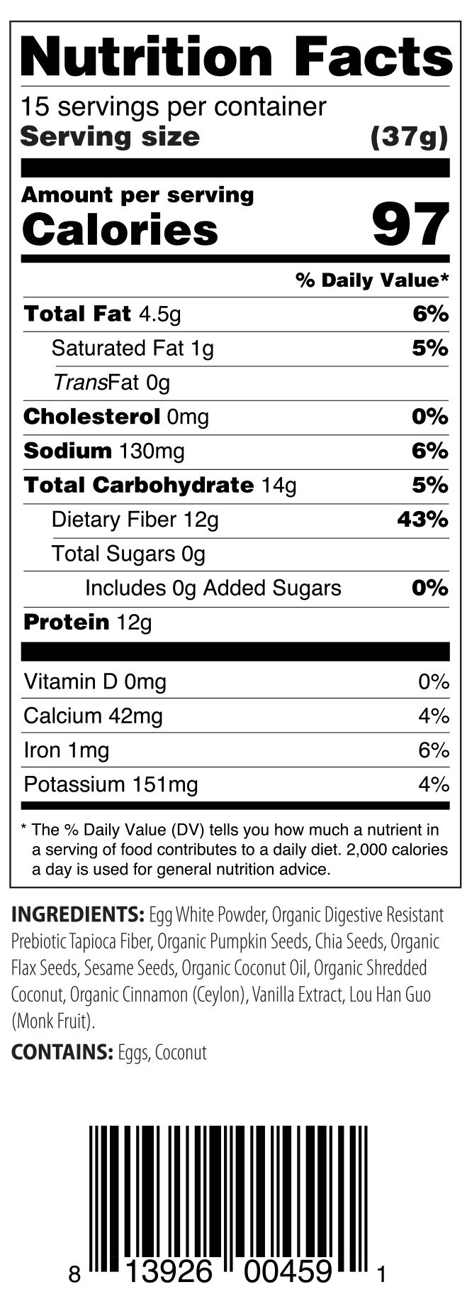 ProGranola 12g Protein Cereal Vanilla Cinn (Paleo : Low Net Carb : Gluten Free : Grain Free) (6 Pack) by Julian Bakery (Image #2)
