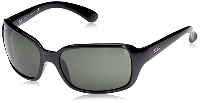13ab52e370 Color  Ray-Ban RB4068 - BLACK Frame CRYSTAL GREEN Lenses 60mm Non-Polarized