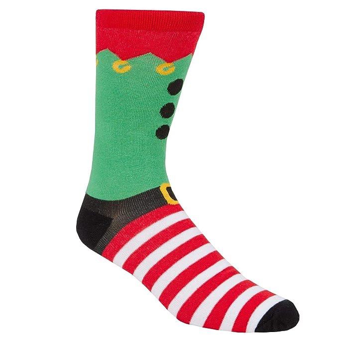 Festive Hombre Diversión Novedad Calcetines de Navidad de Algodón - Paquete de 3 - Paquete, uk 6-11 eu 39-46: Amazon.es: Ropa y accesorios