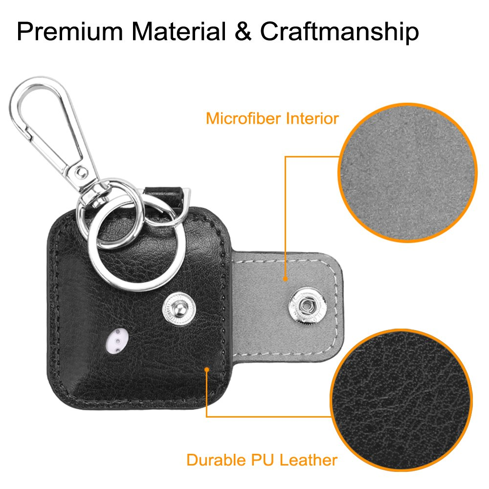 Tile Style Key Finder Phone Finder Fintie Tile Mate//Sport//Style Case with Carabiner Keychain Tile Sport Anti-Scratch Vegan Leather Protective Skin Cover for Tile Mate 2016 Release Black