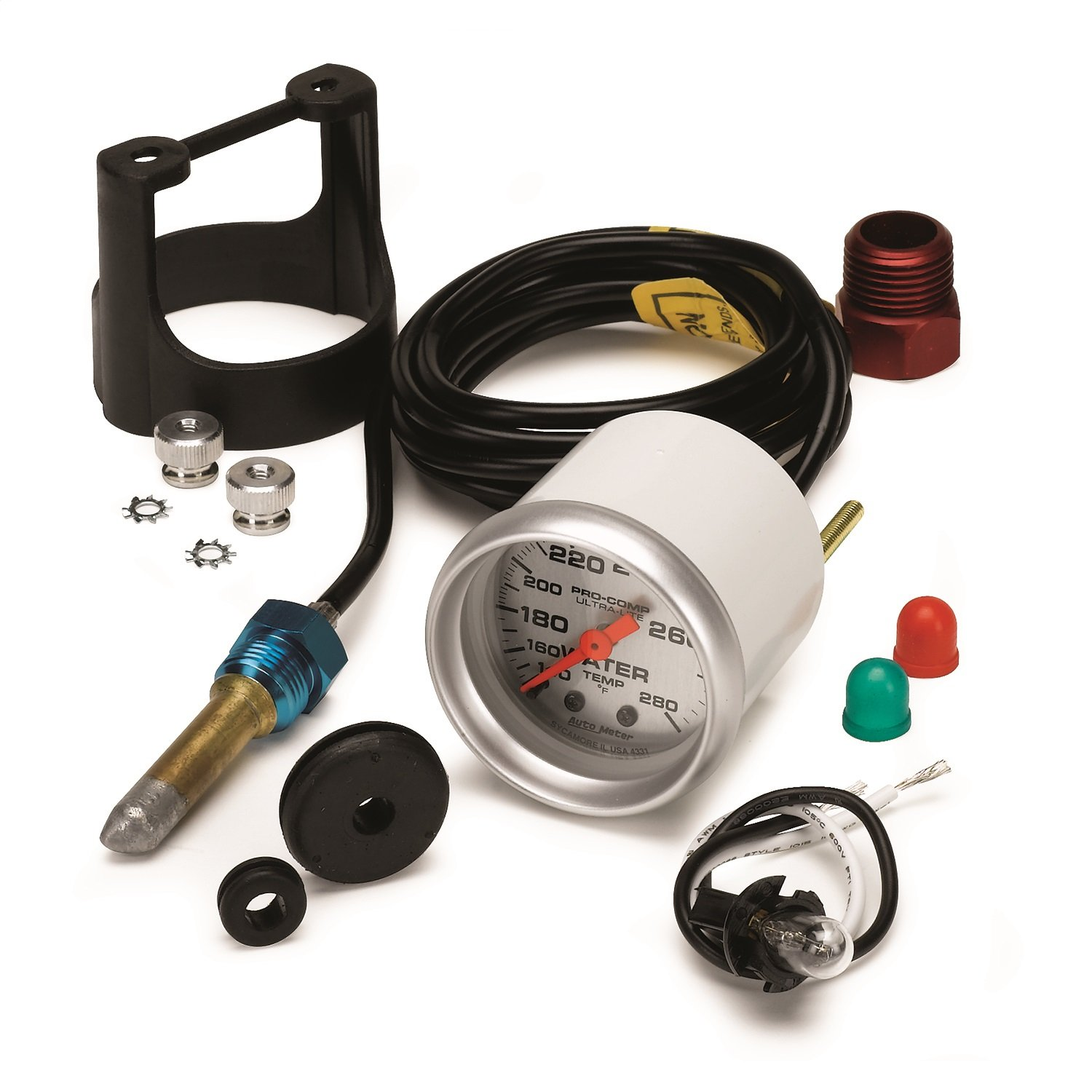 Auto Meter 4331 Ultra-Lite Mechanical Water Temperature Gauge by Auto Meter