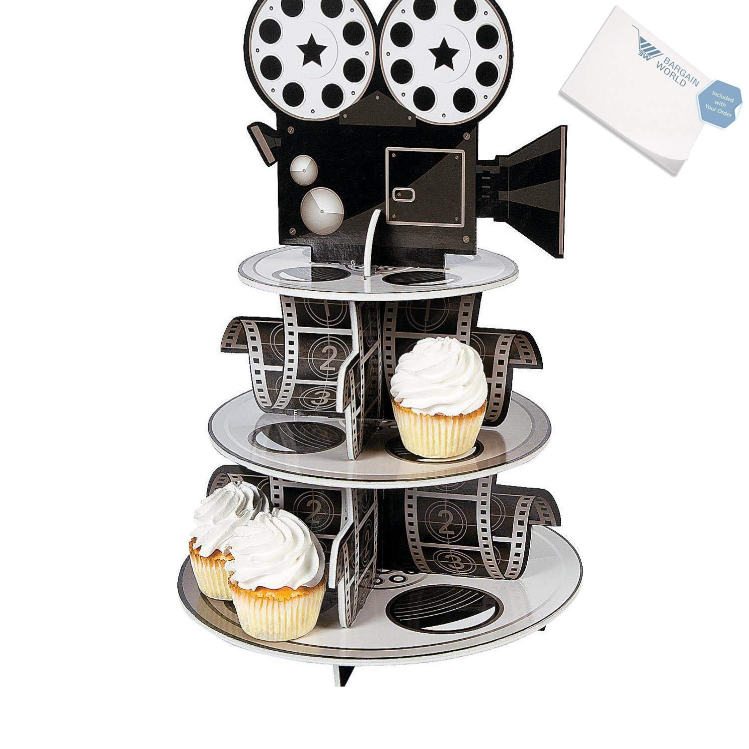 Bargain World Foam Movie Reel Cupcake Holder (With Sticky Notes)
