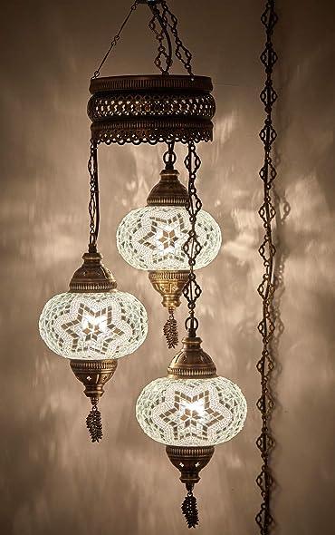 DEMMEX Turkish Moroccan Mosaic Hardwired OR Swag Plug