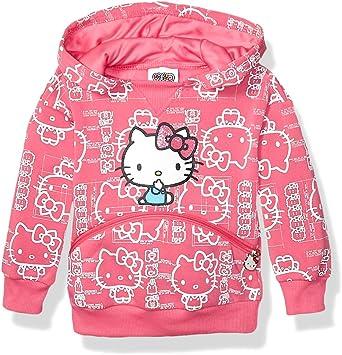 Hello Kitty Girls Kids Hoodie Zip Up Jacket Sweatshirt Top Size 2T 3T 4 5 Pink