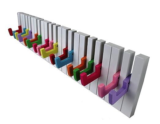 Diseño Perchero Ganchos para Ropa Listón con Ganchos 16 Gancho Piano Armario de Colores Piano Nuevo