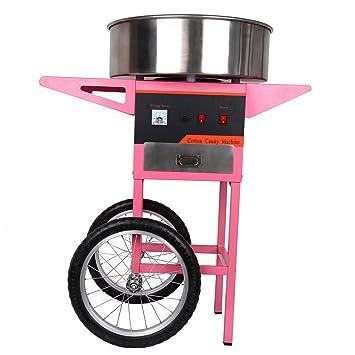 TryESeller Máquina eléctrica de Caramelo de algodón 1300W con Carro Fabricante de Hilo de azúcar Dulce: Amazon.es: Hogar