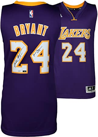 f00452394d4 Kobe Bryant Los Angeles Lakers Autographed Purple Swingman Jersey with Mamba  Out Inscription - Limited Edition
