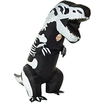 Amazon.com: Kids Jurassic hinchable dinosaurio T-Rex disfraz ...