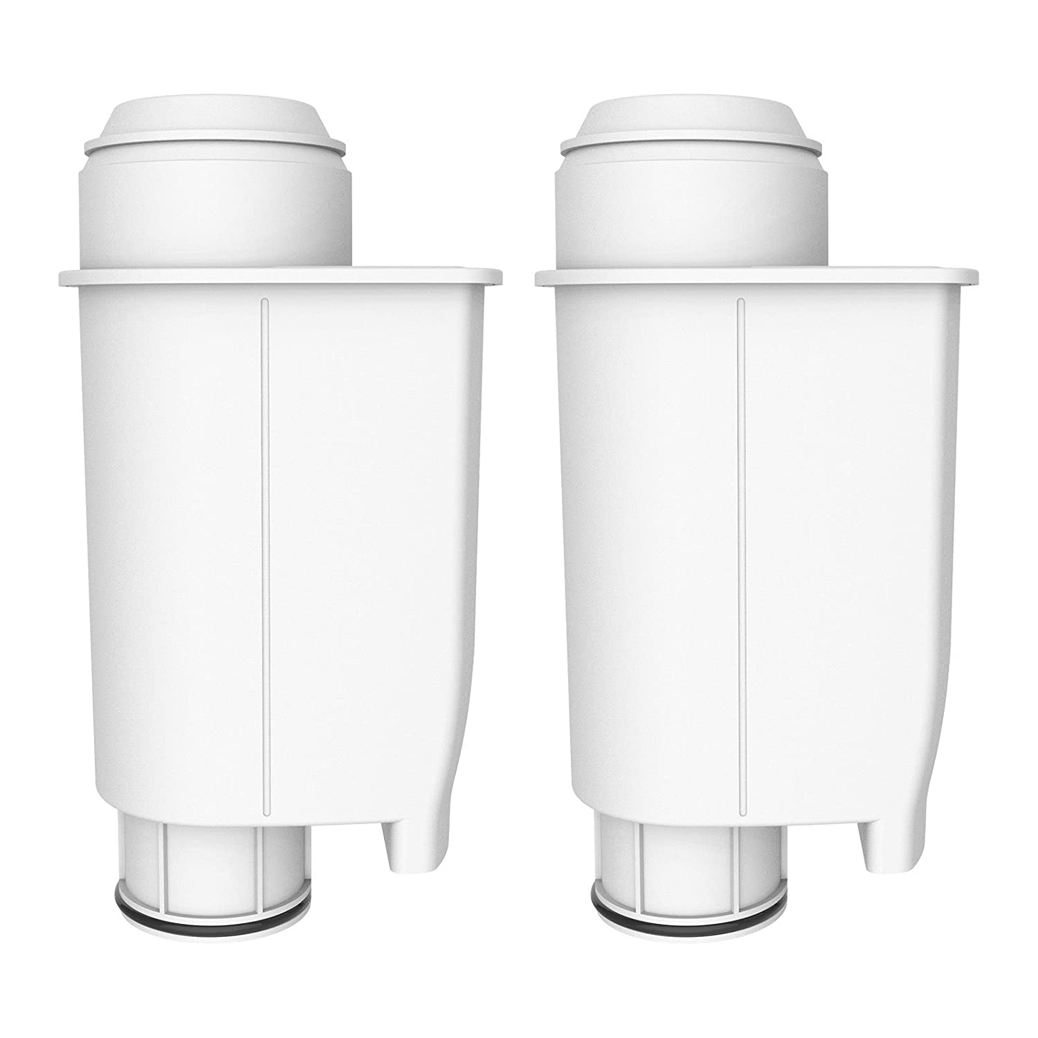 AquaCrest AQK-02 Compatible Coffee-Machine Water Filter Replacement for Brita Intenza+ including various models of Philips Saeco, Bosch, Gaggia (2) EcoPure
