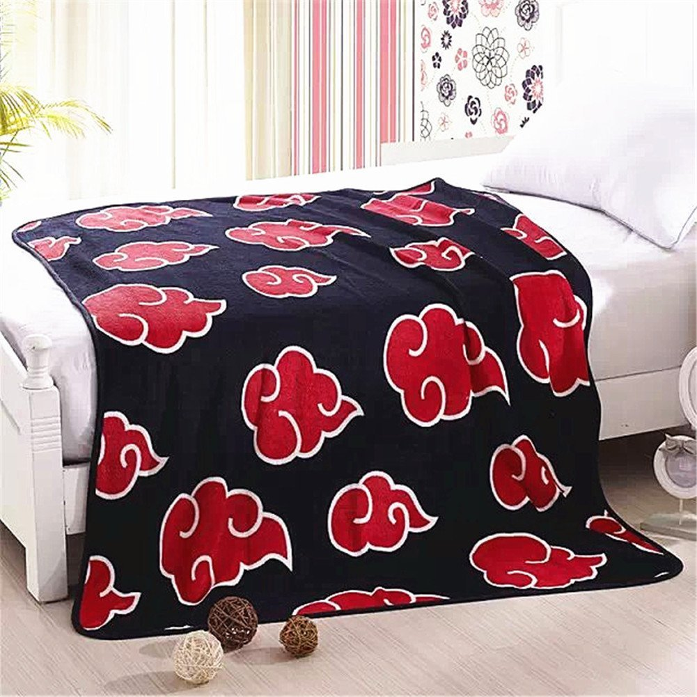 Fatacy Anime Naruto Red Clouds Coral Fleece Throw Blanket 50